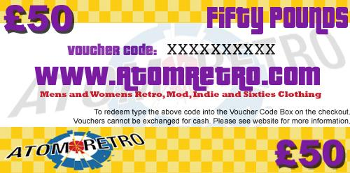 RETRO CLOTHING VOUCHER ATOM RETRO VOUCHERS MOD