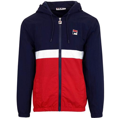 Fila Vintage Tate Shell Jacket in Navy/Red