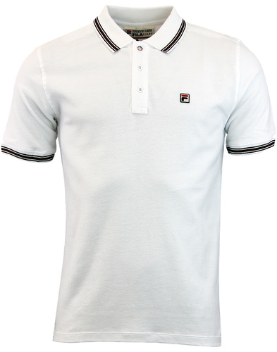 Matcho 4 FILA VINTAGE Retro Eighties Polo - White