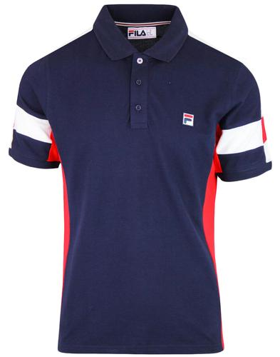 Prago FILA VINTAGE Retro Panel Pique Polo Top (P)