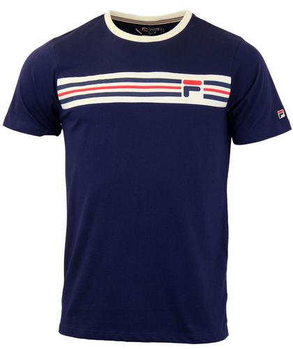Vandorno FILA VINTAGE Retro 80s Chest Stripe Tee P