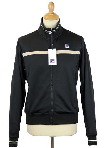 FILA VINTAGE RETRO WINDBREAKER TRACK TOP BLACK