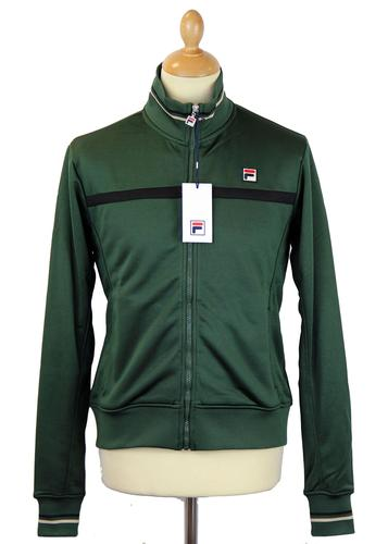 FILA VINTAGE RETRO WINDBREAKER TRACK TOP GREEN