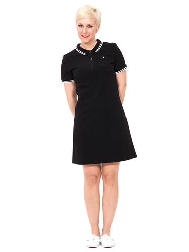 MADEMOISELLE YEYE FLORENCE POLO MOD DRESS BLACK