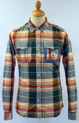 Brink FLY53 Retro Indie Tailored Check Mod Shirt