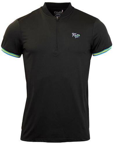 FLY53 FLY 53 RETRO MOD CYCLING TOP BLACK