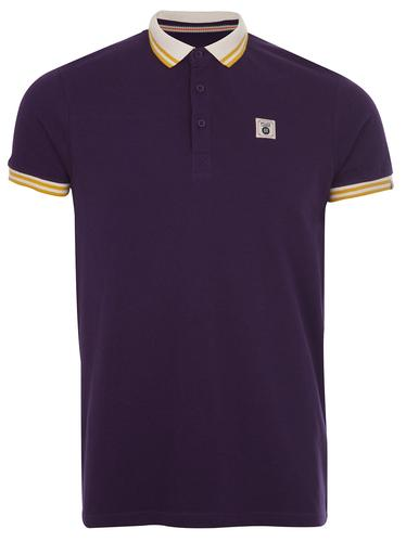 FLY53 FLY 53 RETRO MOD SHORT COLLAR POLO PURPLE