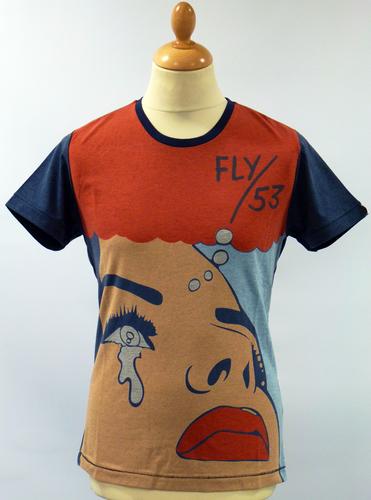 Men Short Sleeve Wow Sigh Lable Pop Art Short Sleeve T-Shirt Men Tee
