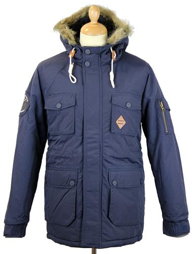 FLY53 FLY 53 RETRO MOD PARKA COAT WINTERTON NAVY