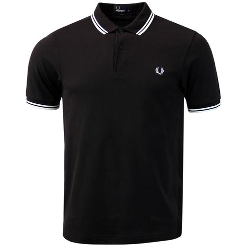 FRED PERRY M3600 Mod Twin Tipped Polo Shirt BW