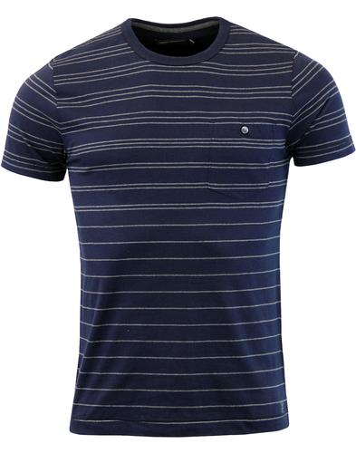 FRENCH CONNECTION Retro 60s Graded Stripe Tee (Bl)