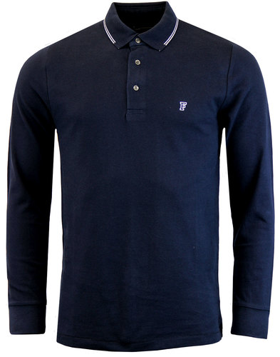 FRENCH CONNECTION Retro Mod Twin Tip LS Pique Polo