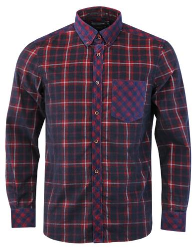 FRENCH CONNECTION Retro Mod Corduroy Check Shirt