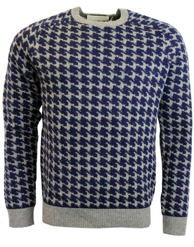 FRENCH CONNECTION RETRO DOGTOOTH KNIT JUMPER