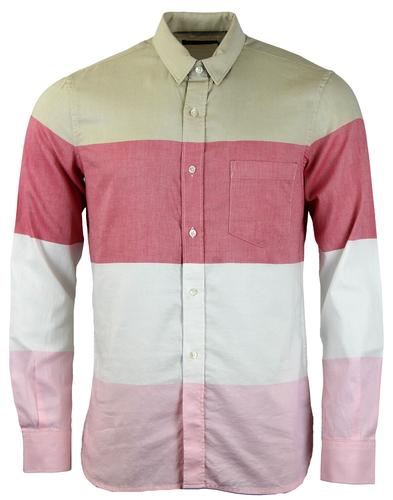 FRENCH CONNECTION RETRO MOD 60S OXFORD STRIPE