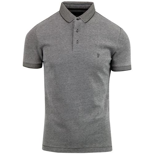 FRENCH CONNECTION Mens Mod Tipped Pique Polo MG