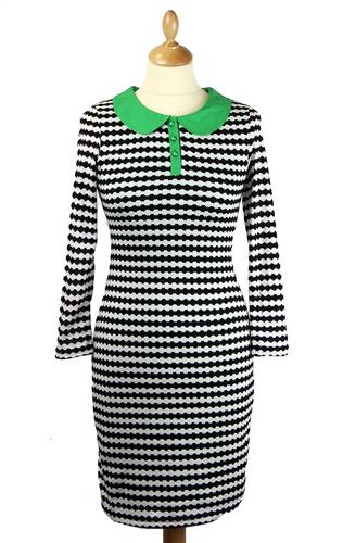 Bibi FRIDAY ON MY MIND 60s Mod Dress - 3/4 Sleeve