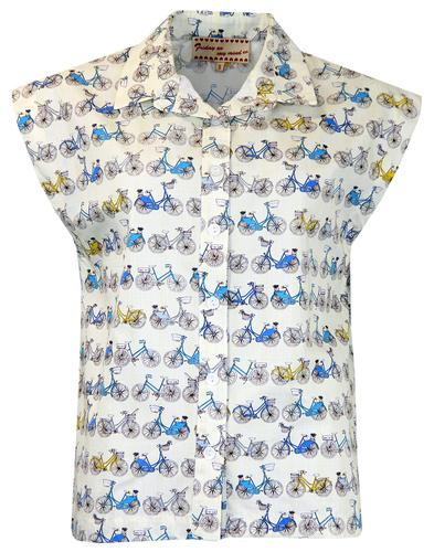 FRIDAY ON MY MIND RETRO MOD BIKE PRINT SHIRT