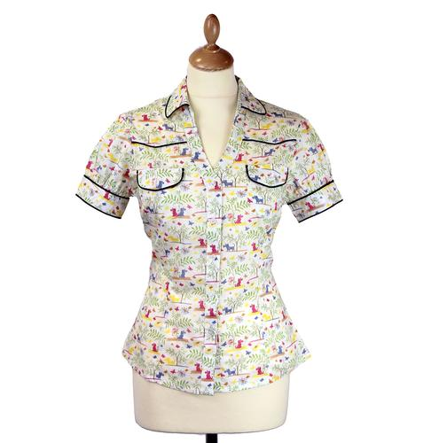 Bonnie Shirt FRIDAY ON MY MIND Retro Western Shirt