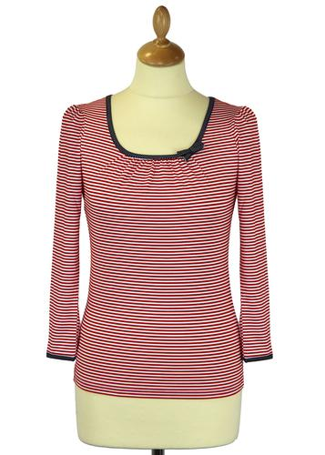 FRIDAY ON MY MIND RETRO 60s MOD SAILOR TOP RED
