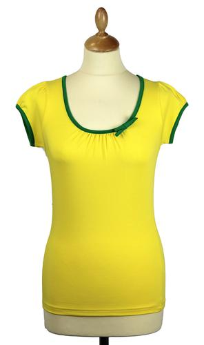 FRIDAY ON MY MIND RETRO 60s SAILOR TOP YELLOW