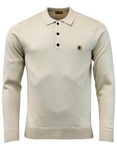 Francesco GABICCI VINTAGE Mod Knit Polo Top (Oat)