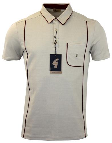 GABICCI VINTAGE Mod Classic Piping Collar Polo (L)