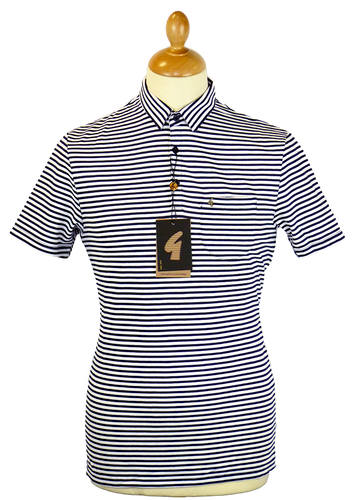 Richards GABICCI VINTAGE 60s Mod All Stripe Polo