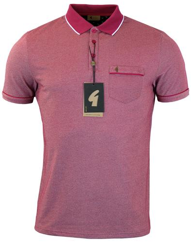 GABICCI VINTAGE RETRO 70S TONIC POLO RED