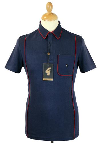 GABICCI VINTAGE Mod Classic Piping Collar Polo (N)