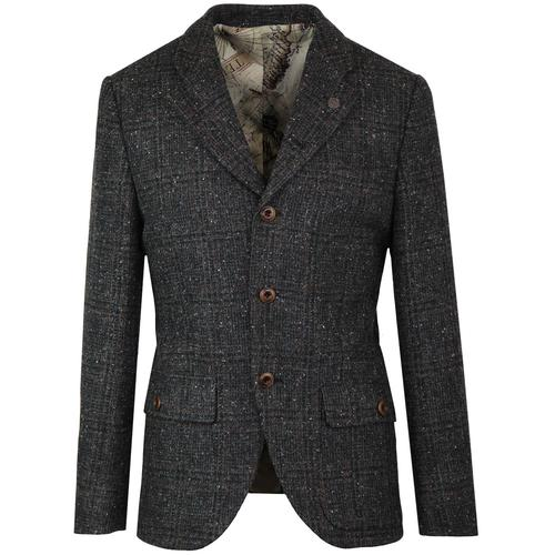 Grouse GIBSON LONDON 60s Mod Glen Check Blazer (C)
