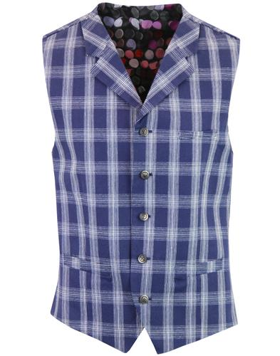 Tyburn GIBSON LONDON Plaid Check Lapel Waistcoat