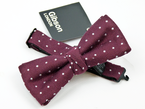 GIBSON LONDON RETRO MOD POLKA DOT BOW TIE