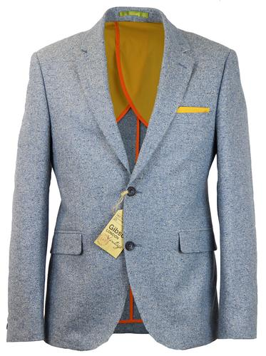 GIBSON LONDON RETRO MOD DONEGAL TWEED SUIT JACKET