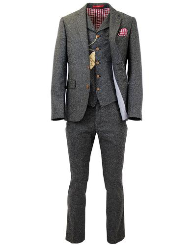 GIBSON LONDON RETRO MOD DONEGAL TWEED SUIT
