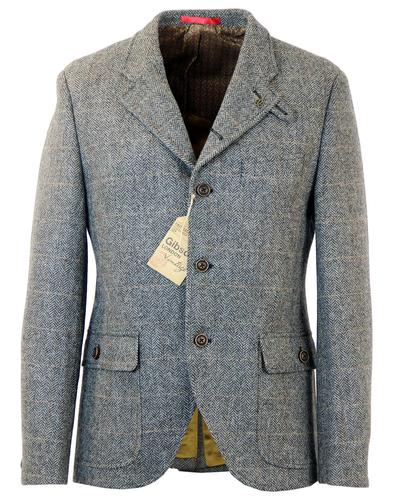 GIBSON LONDON RETRO MOD GROUSE CHECK BLAZER