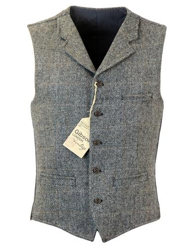 GIBSON LONDON RETRO MOD TWEED GROUSE WAISTCOAT