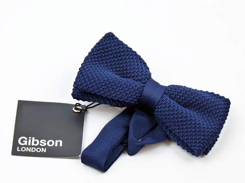 Knitted Bow GIBSON LONDON Retro Mod Bow Tie (N)
