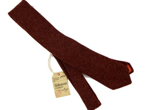 GIBSON LONDON Shetland Retro Rust Tweed Tie