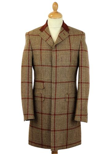 Vinnie GIBSON LONDON Mod Check 3/4 Length Coat (F)