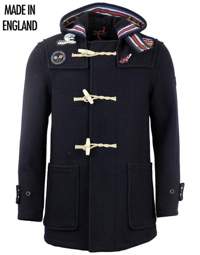 GLOVERALL MID MONTY BADGED GRAND PRIX DUFFLE COAT