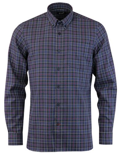 GLOVERALL 60s Mod Button Down Brushed Check Shirt