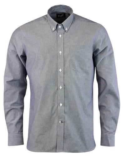GLOVERALL Retro 60s Mod Button Down Chambray Shirt