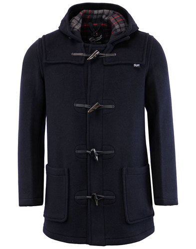 GLOVERALL Retro Checkback Mid Length Duffle Coat N