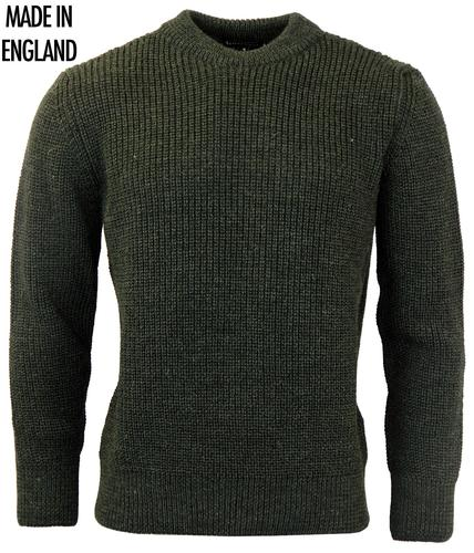 GLOVERALL Retro Chunky Knit Wool Jumper