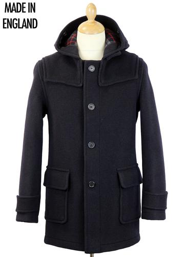 GLOVERALL RETRO MOD 70S BUTTON DUFFLE COAT NAVY