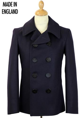 GLOVERALL RETRO MOD 60S 70S REEFER PEACOAT