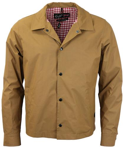 GLOVERALL RETRO MOD SHOWERPROOF COACHES JACKET TAN