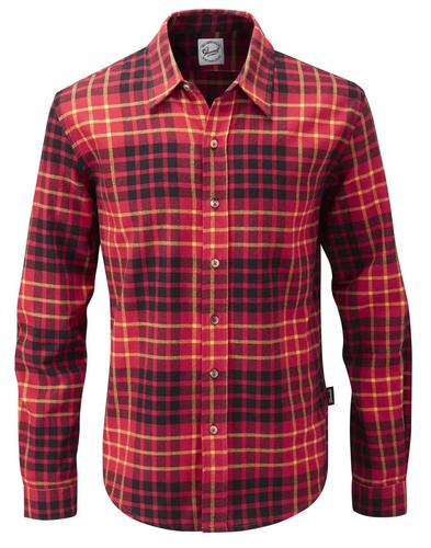 GLOVERALL MENS RETRO CLASSIC RED CHECK SHIRT