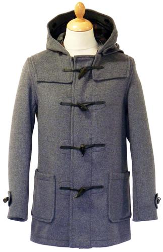 GLOVERALL 3251 Mid Melton Retro Mod Grey Duffle Coat